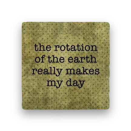 Rotation of Earth-Polka Spots-Paisley & Parsley-Coaster