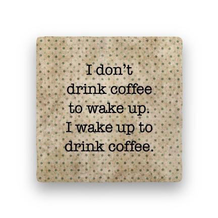 Drink Coffee-Polka Spots-Paisley & Parsley-Coaster
