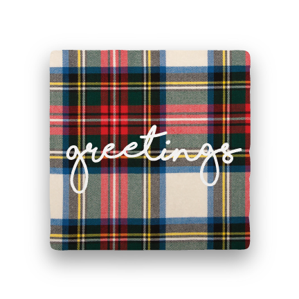 Greetings-Holiday-Paisley & Parsley-Coaster