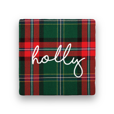 Holly-Holiday-Paisley & Parsley-Coaster