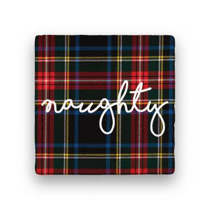 Naughty-Holiday-Paisley & Parsley-Coaster