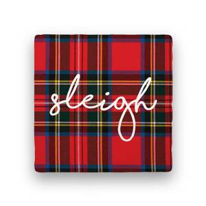 Sleigh-Holiday-Paisley & Parsley-Coaster