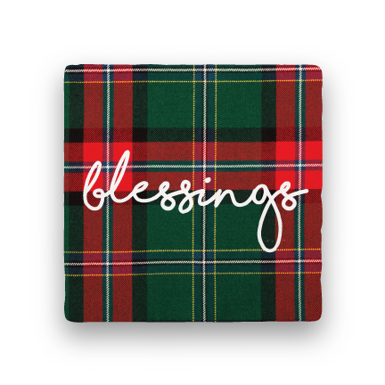 Blessings-Holiday-Paisley & Parsley-Coaster