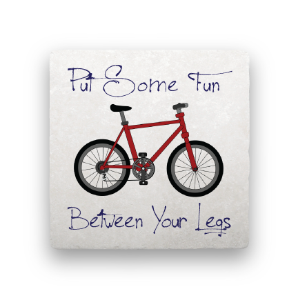 Between Your Legs-Bicycles-Paisley & Parsley-Coaster