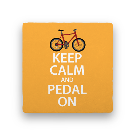 Pedal On-Bicycles-Paisley & Parsley-Coaster