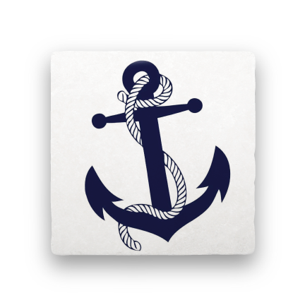 Anchor-Nautical-Paisley & Parsley-Coaster