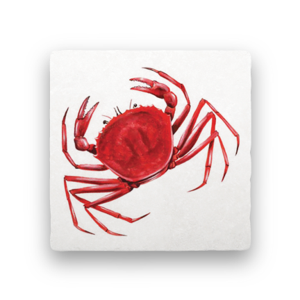 Crab-Nautical-Paisley & Parsley-Coaster