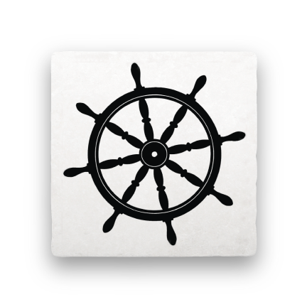 Ship Wheel-Nautical-Paisley & Parsley-Coaster
