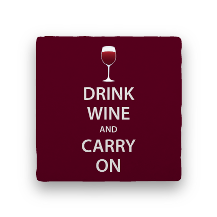Drink Wine and Carry On-Wine-Paisley & Parsley-Coaster