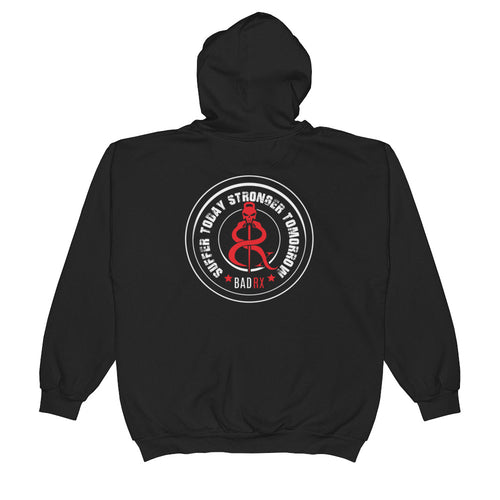 BadRx Suffer Today Stronger Tomorrow Unisex  Zip Hoodie