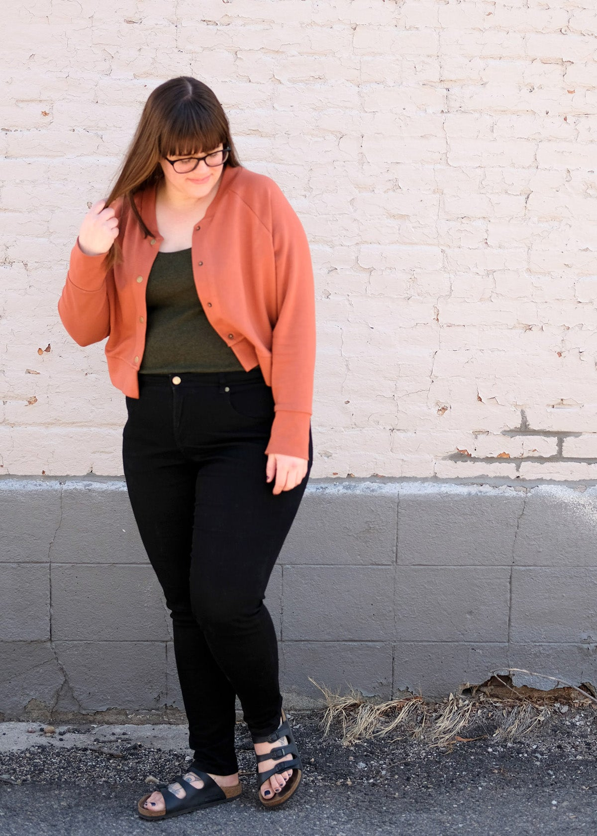 Cropped Monarch Jacket | Pattern by Allie Olson