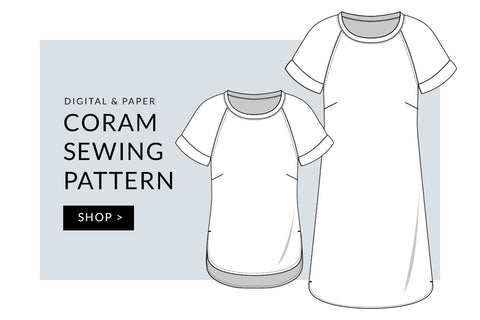 Coram Top and Dress Sewing Pattern