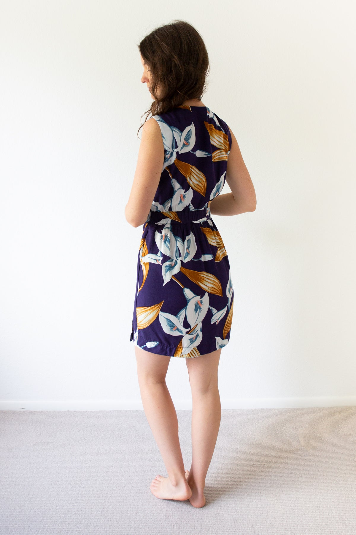 Back of the Highlands Wrap Dress | Allie Olson Sewing Patterns
