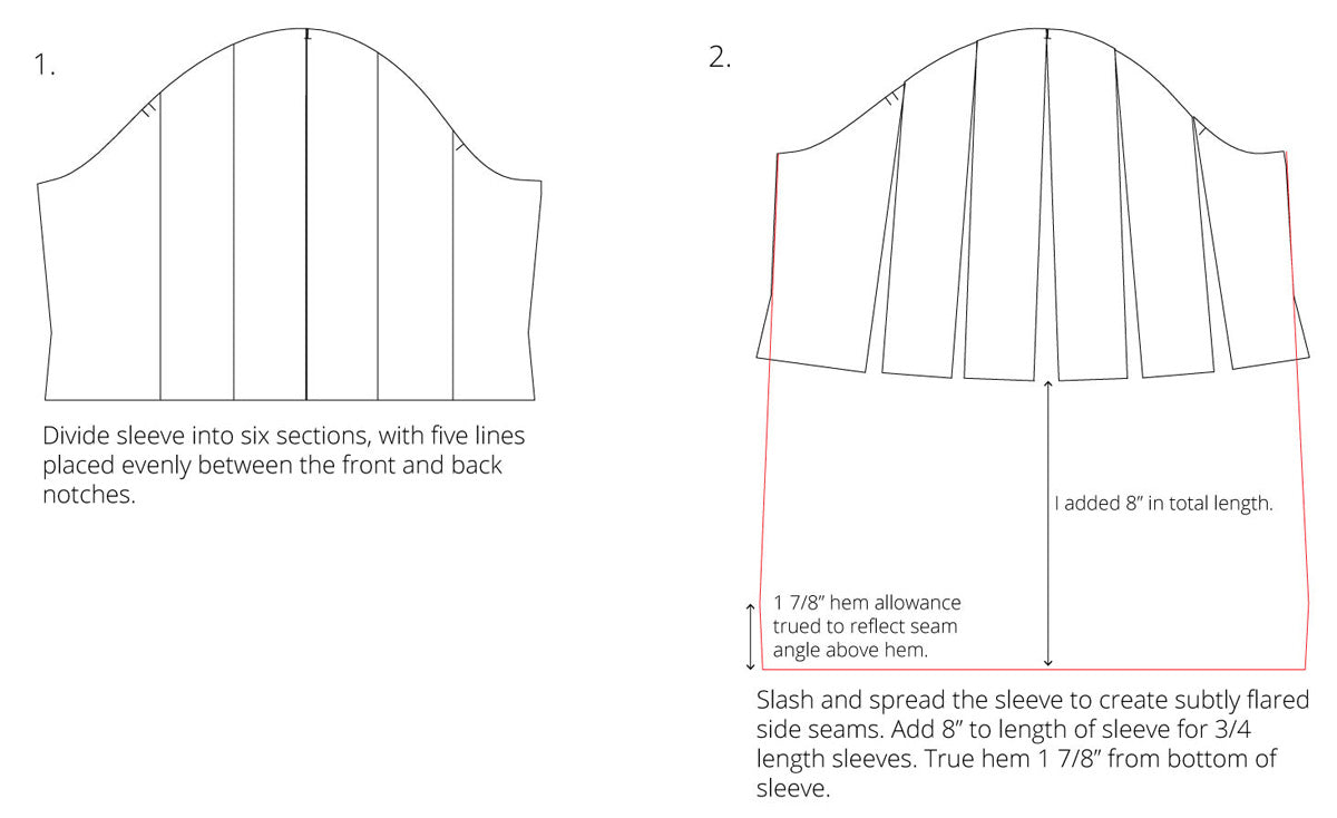 How to Flare a Sleeve | Sewing Tutorial