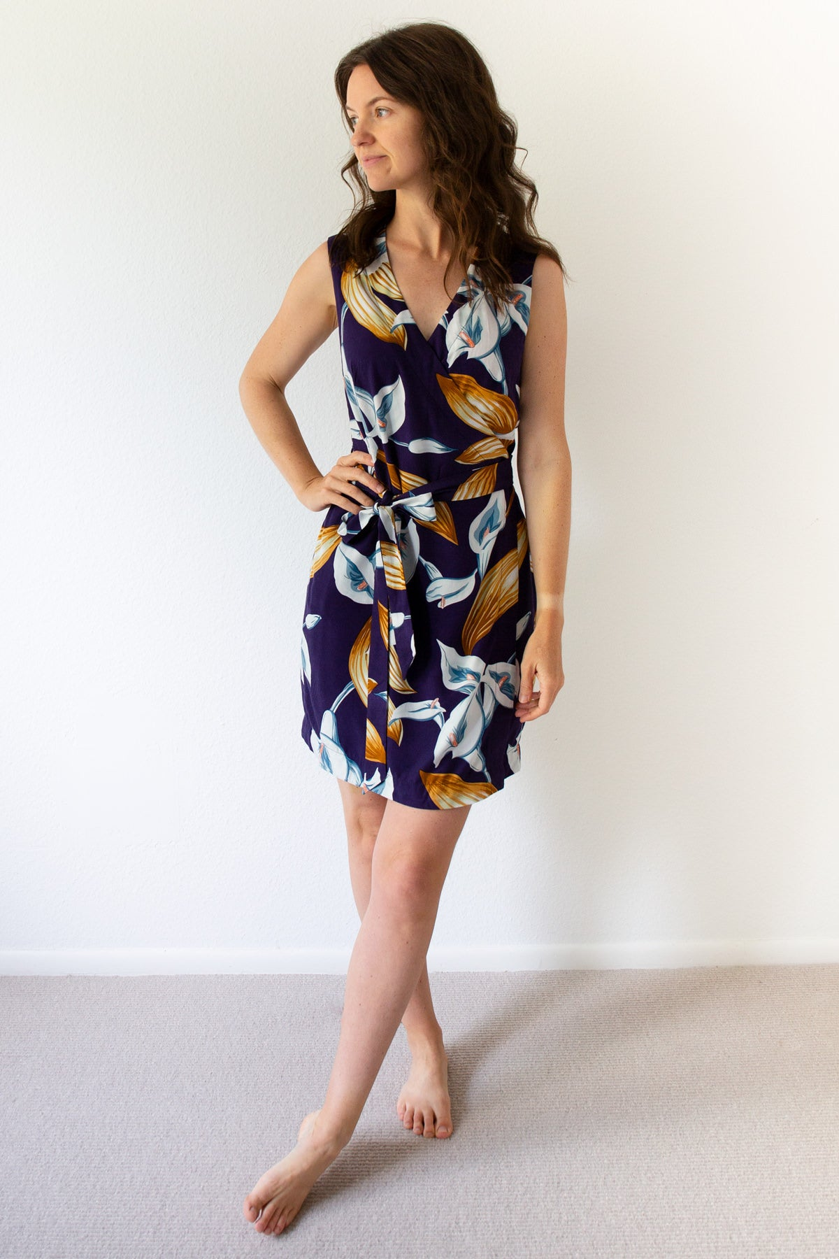 How to Shorten the Highlands Wrap Dress by Allie Olson