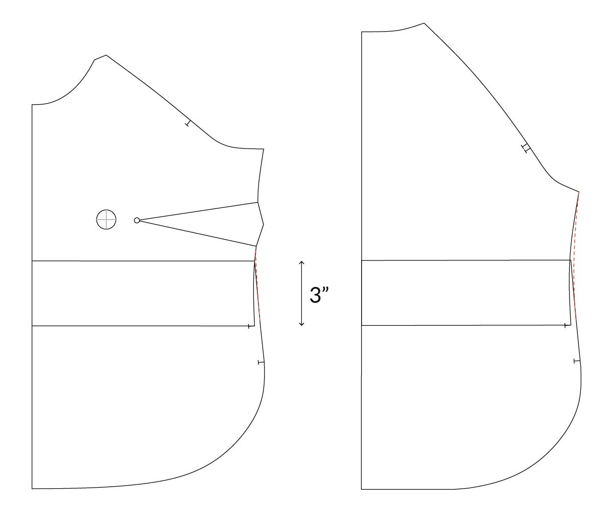 How to Crop the Coram Top Sewing pattern