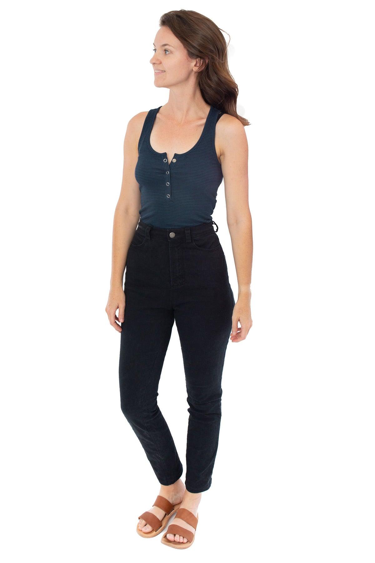 How to Add a Henley Placket   Kila Tank Sewing Pattern