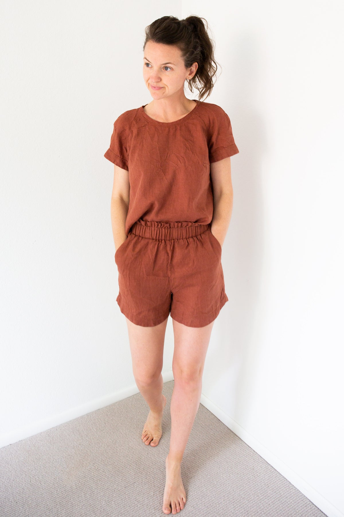Coram Top and Peppermint Spring Shorts Sewing Patterns