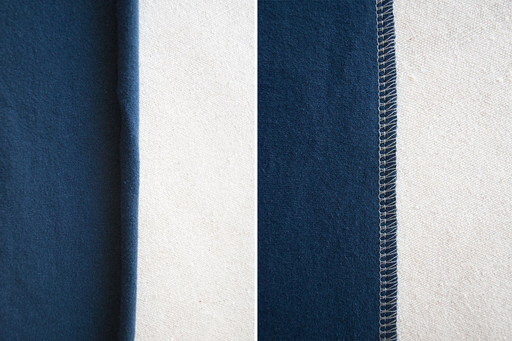 Rolled versus Serged | How to Sew with Jersey Fabric