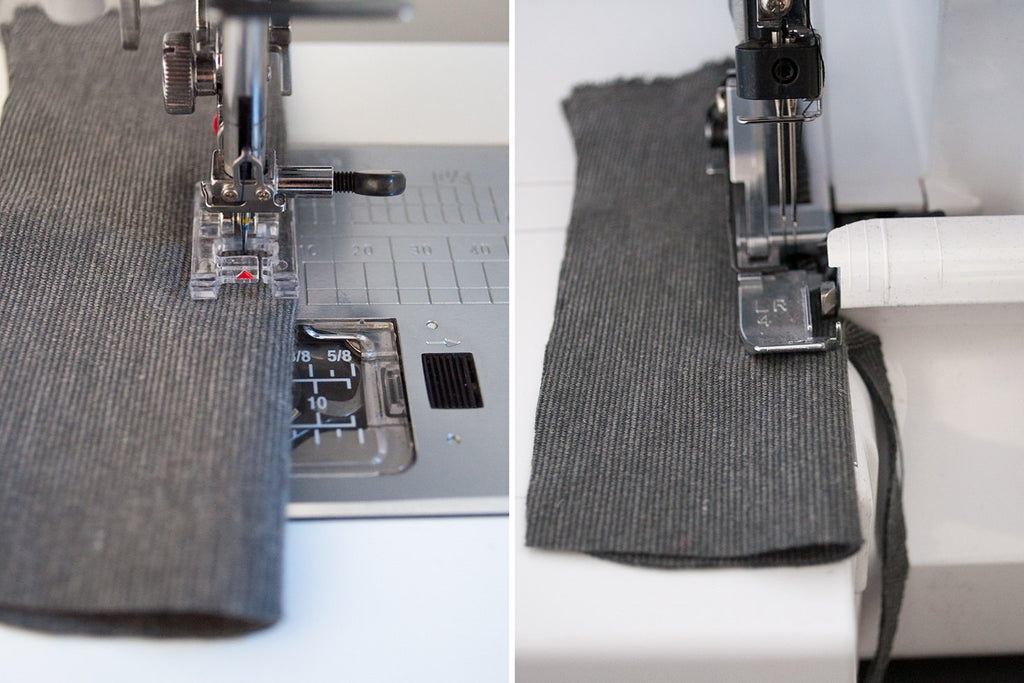 Sewing and serging ponte fabric.
