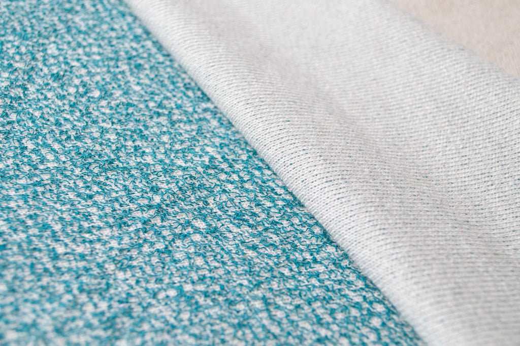 Teal Two-Toned French Terry Fabric