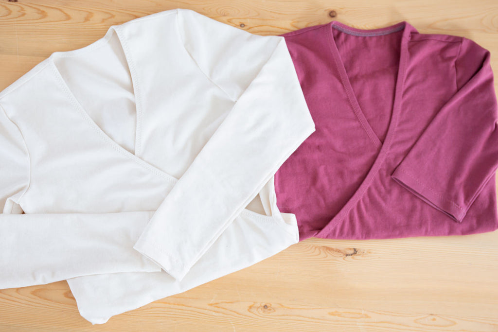 Two Elio Tops in Cotton Lycra Fabric