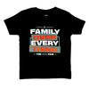 Youth TShirt - Black Stacked Ace Family