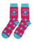 Socks - Pink/Teal Ace Signature