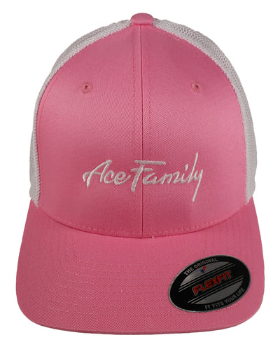 Dad Hat - Pink Cursive Ace Family