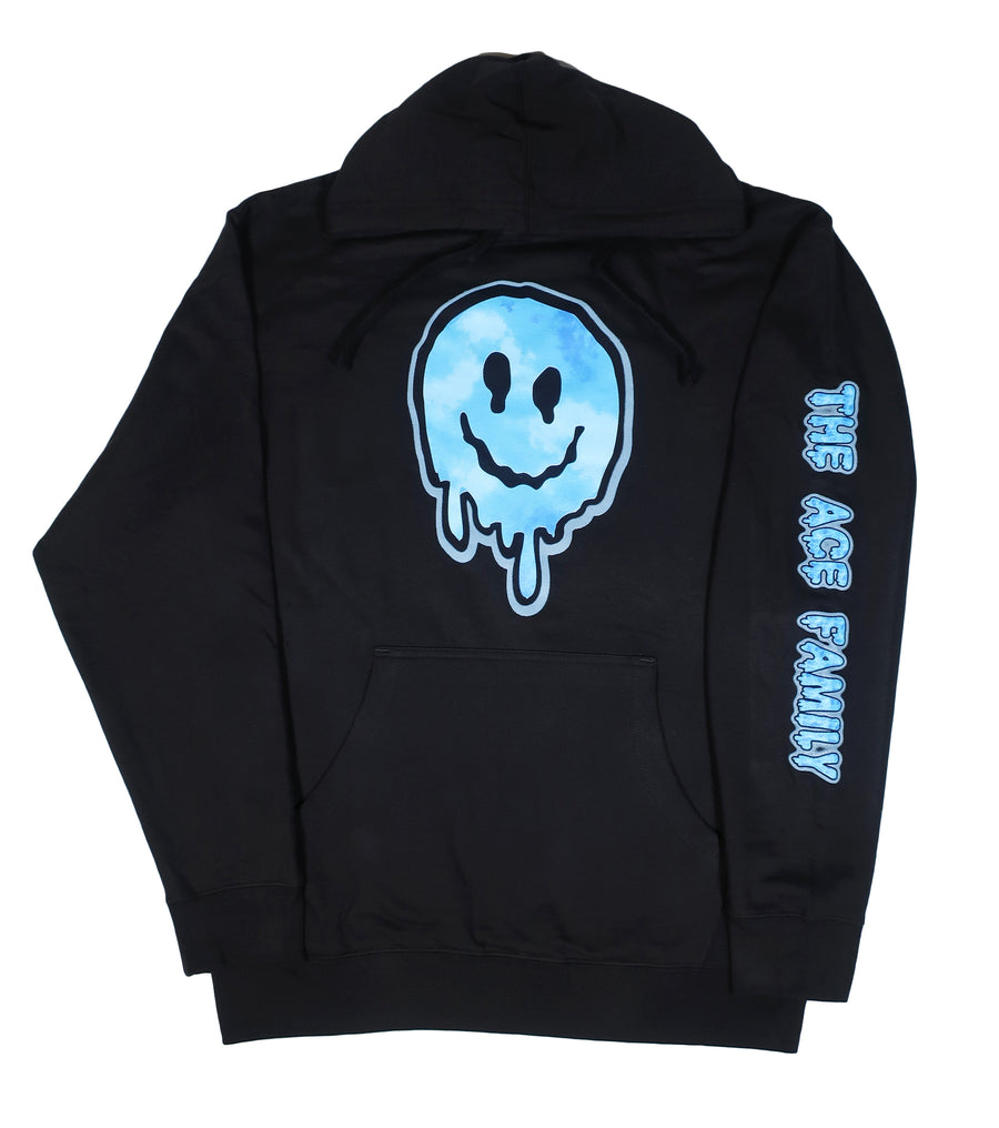 Youth Hoodie - Black (Glow-in-the-Dark) Ace Slime Face