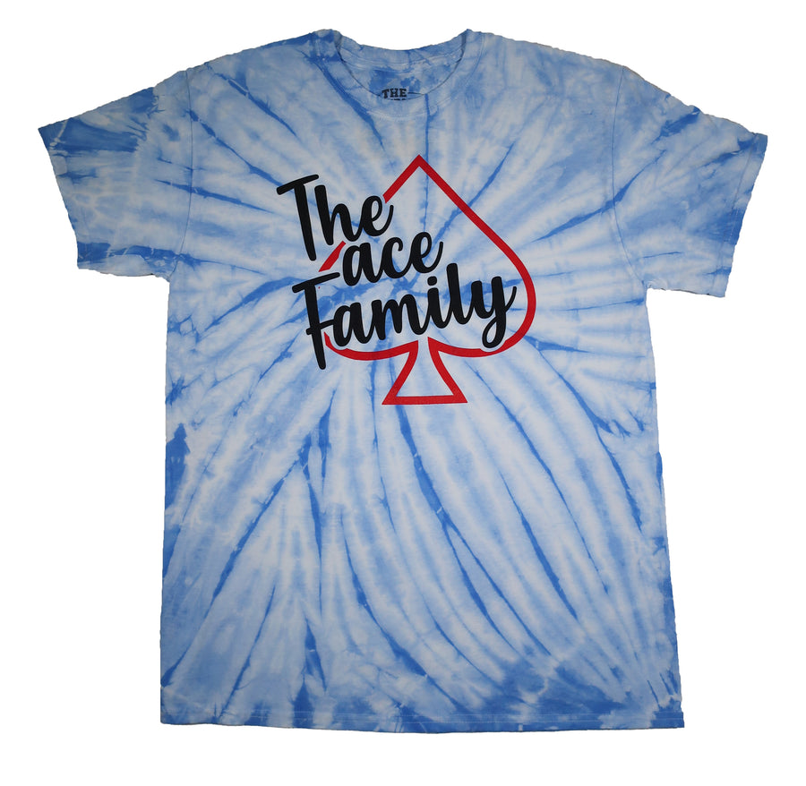 TShirt - Blue Tie-Dyed Ace Family