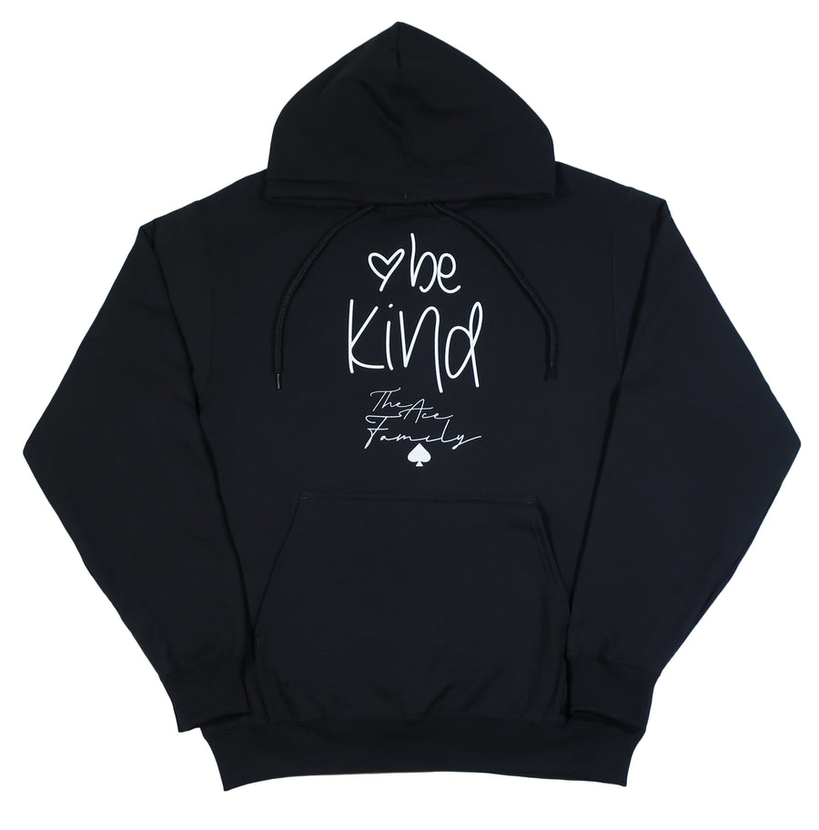Youth Hoodie - Black Be Kind Heart