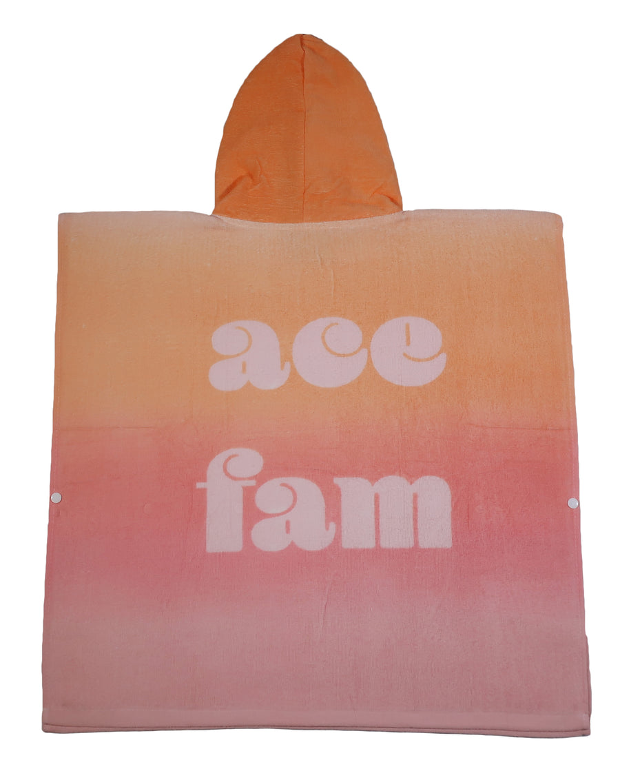 Towel - Poncho Style Pink Ombre Ace Fam