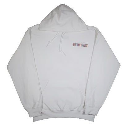 Youth Hoodie - White Pastel Ace Signature