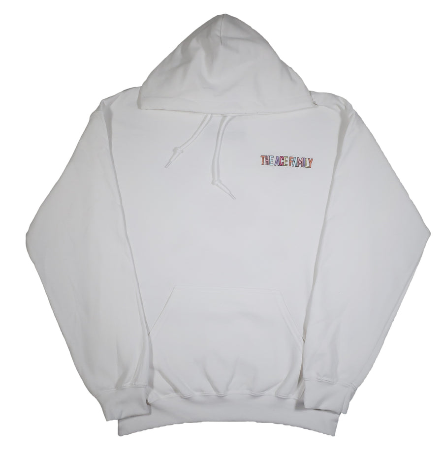 Hoodie - White Pastel Ace Signature