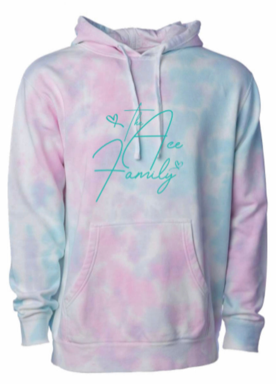 Hoodie - Cotton Candy Tie-Dye Ace Family