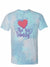 TShirt - Turquoise Tie-Dye Ace Family Heart