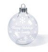 Ornament - Clear Glass Ace Family
