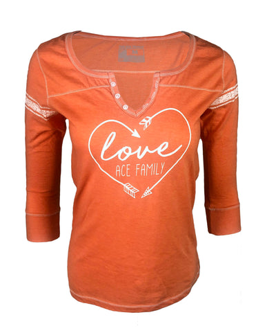 Long Sleeve - Orange Love Ace Family