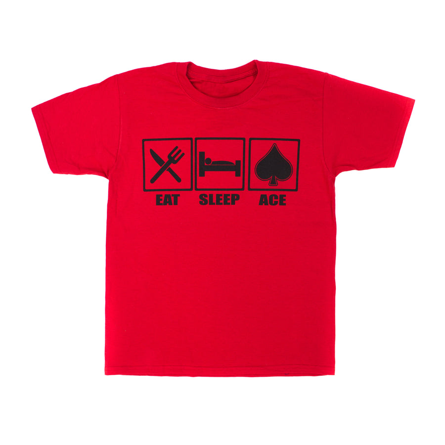 TShirt - Red Eat, Sleep, Ace