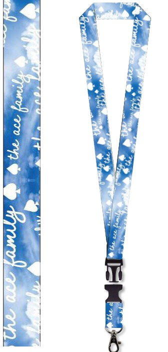 Lanyard - Blue Cloud