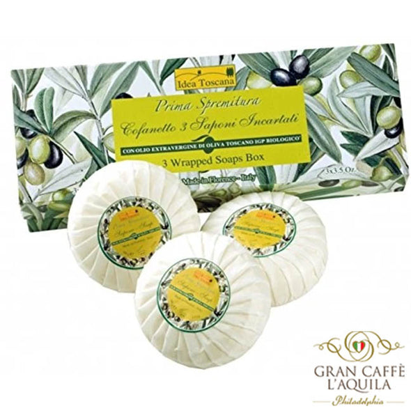 3 Wrapped Soaps Box - Idea Toscana Prima Spremitura