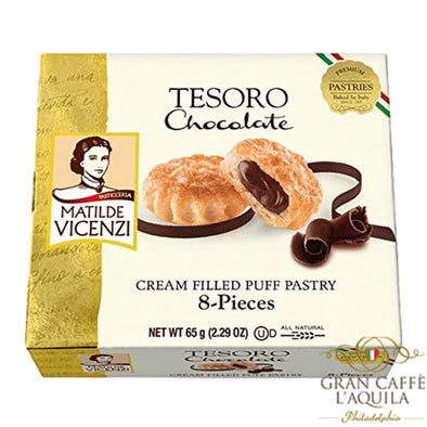 Tesoro Chocolate Cream Filled Puff Pastry - Matilde Vicenzi