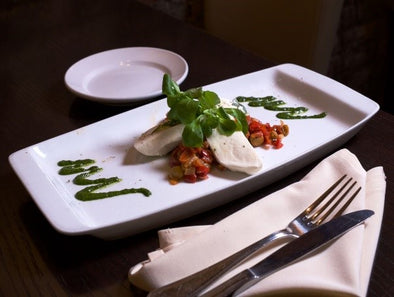 Burrata & Roast Pepper Caponata (Catering)