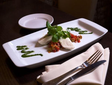 BUFFALO MOZZARELLA & ROAST PEPPER CAPONATA (CATERING)