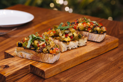 ROAST PEPPER CAPONATA BRUSCHETTA