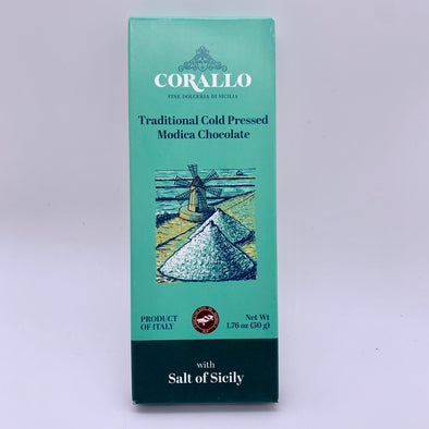 Modica Cold Pressed Chocolate with Salt of Sicily 1.76 oz