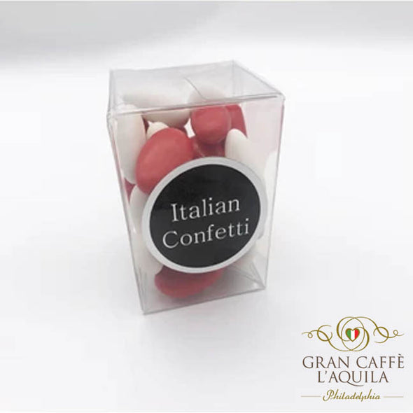 Italian Confetti Red and White   (4oz)