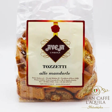 Tozzetti alle mandorle:  Biscotti infused with almonds
