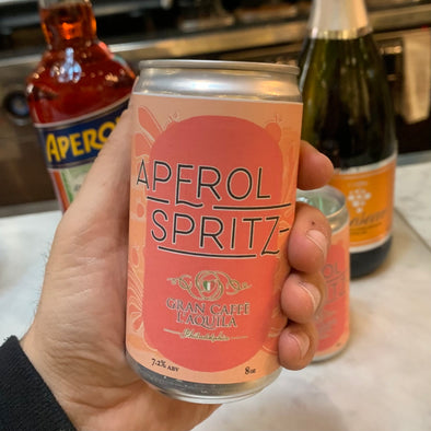 NOW AVAILABLE Gran Caffe L'Aquila's Aperol Spritz! (2 SERVINGS) 8 oz.